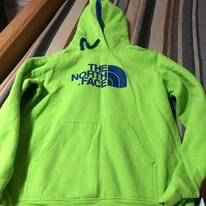 Northface hoodie lime green size small